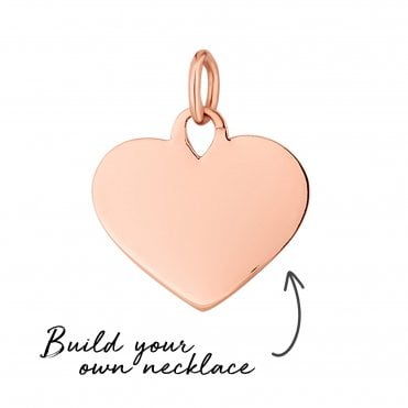 3c6404b18d6b9 14ct Rose Gold Plated Sterling Silver 925 Heart Pendant - Build Your Own  Necklace