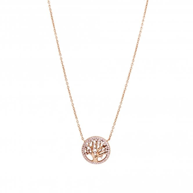 14ct Rose Gold Plated Sterling Silver 925 Tree of Life Necklace