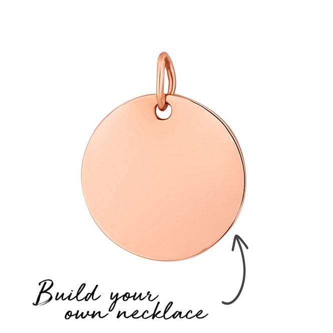 14ct Rose Gold Plated Sterling Silver Disc Pendant- Build Your Own