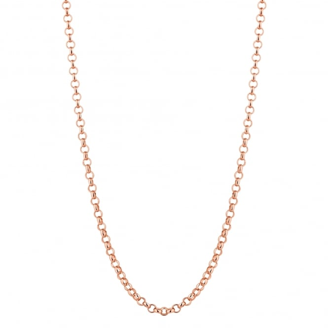 Simply Silver 14ct Rose Gold Plated Sterling Silver Rolo Chain 18 Inch Necklace