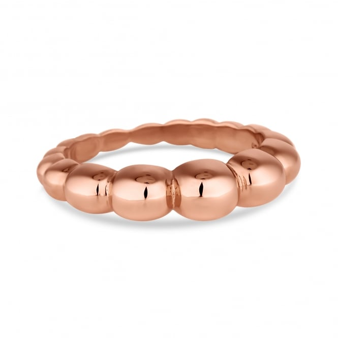 14ct Rose Gold Plated Sterling Silver Textured Ring