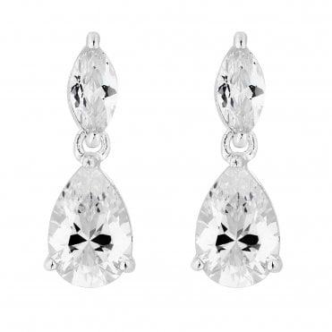 48ef187f7 Sterling Silver 925 Cubic Zirconia Peardrop Drop Earring
