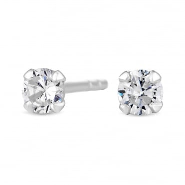 23b7a01bf955 Sterling Silver 925 Cubic Zirconia Small Stud Earring