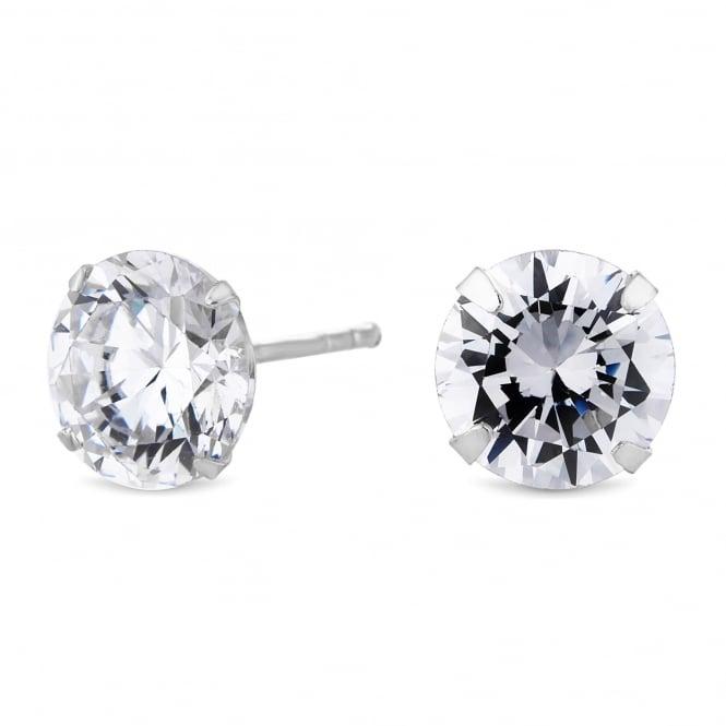 Sterling Silver 925 Cubic Zirconia Stud Earring