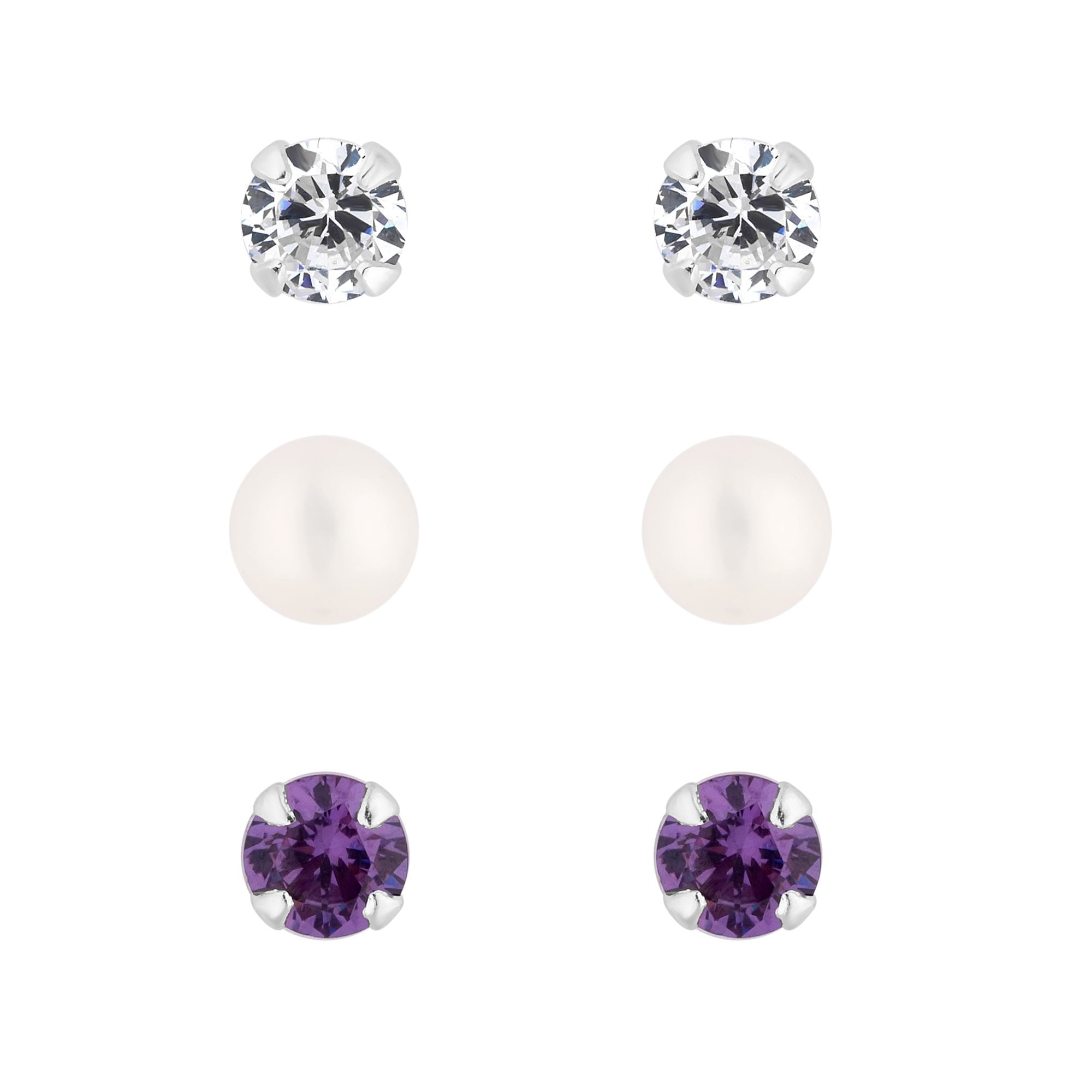15c82170daec85 Simply Silver Sterling Silver 925 Cubic Zirconia Stud Earring Set ...
