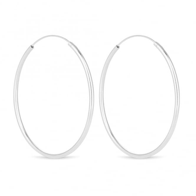 Sterling Silver 925 Large Hoop Earring