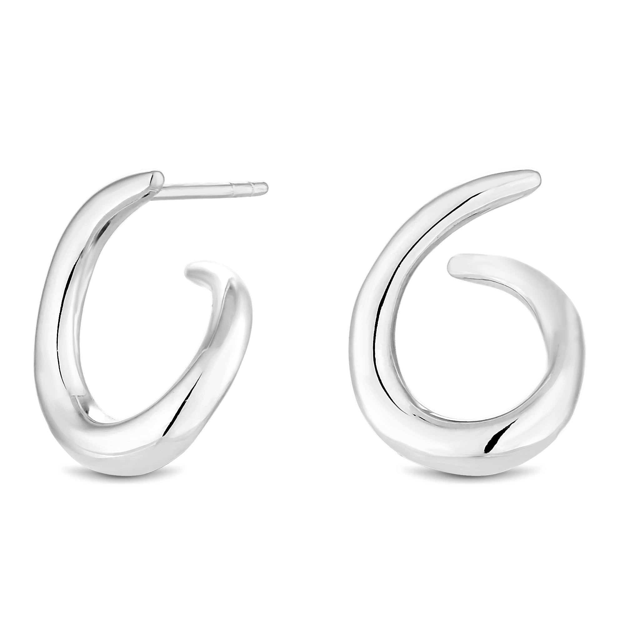 0401247cff080 Sterling Silver 925 Polished Front To Back Earrings