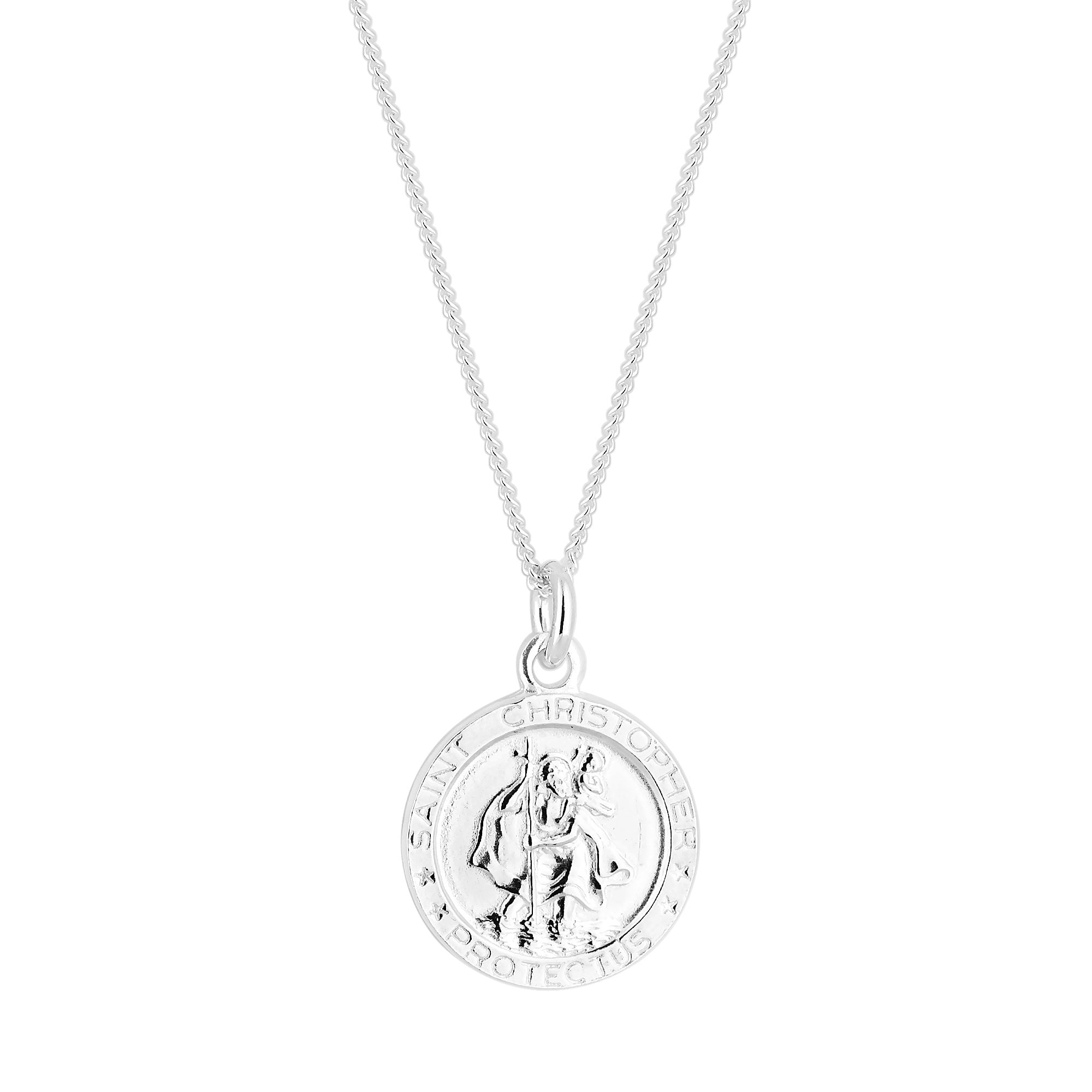 46590c62ffd Simply Silver Sterling Silver 925 St Christopher Pendant - Jewellery ...