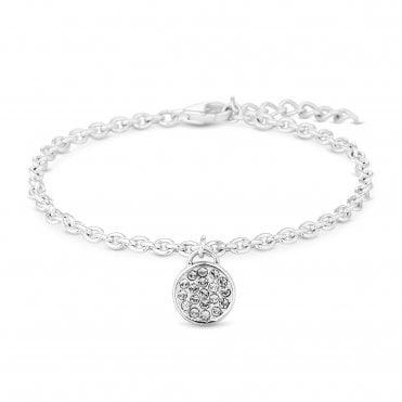 bf1558527 Sterling Silver 925 White Clear Pave Bracelet Embellished With Swarovski®  Crystals