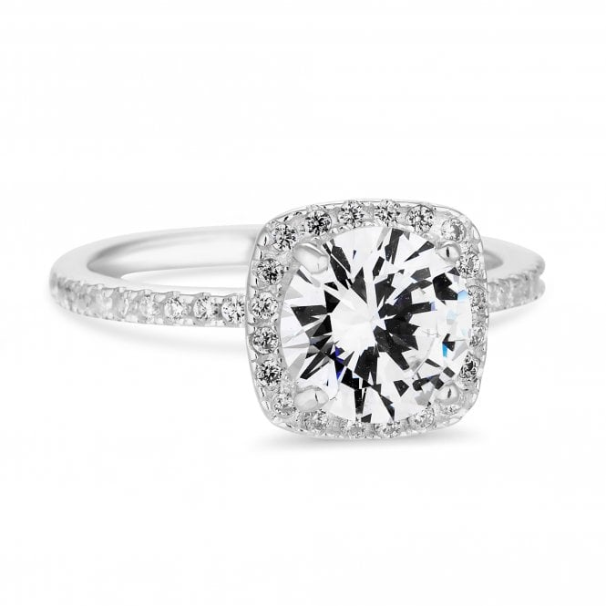 Simply Silver Sterling Silver 925 White Cubic Zirconia