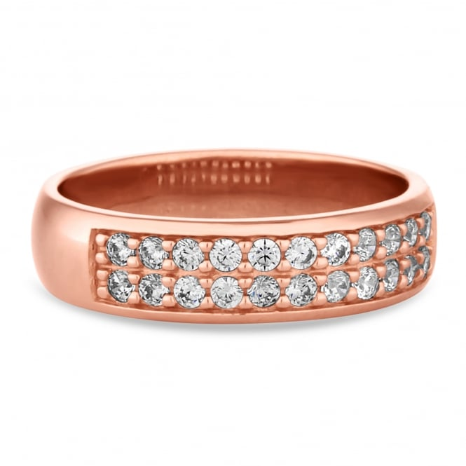 14ct Rose Gold Plated Sterling Silver Band Ring