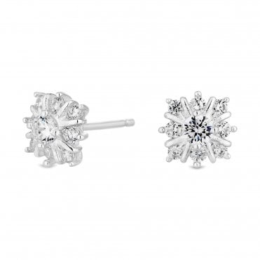 2f713c177 Sterling Silver Cubic Zirconia Solitaire Stud Earring