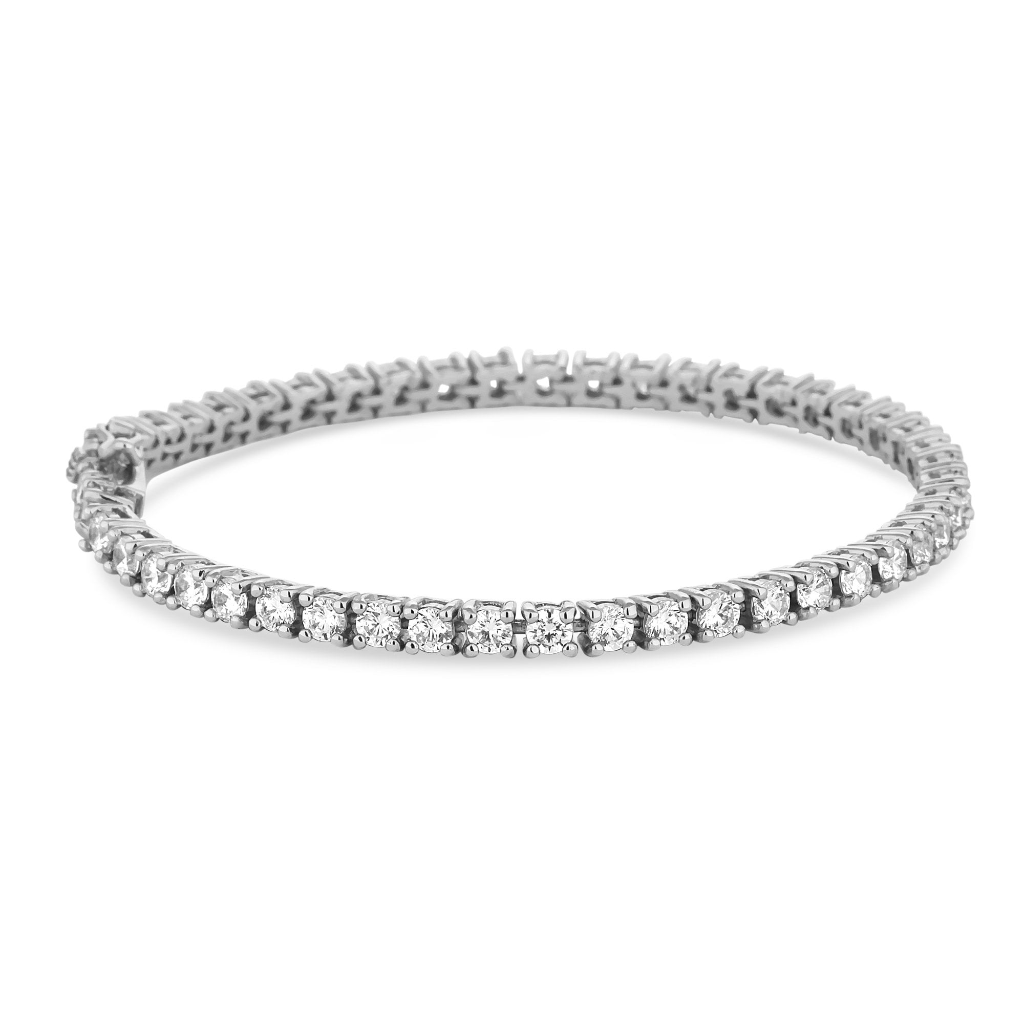 Simply Silver Sterling Cubic Zirconia Tennis Bracelet