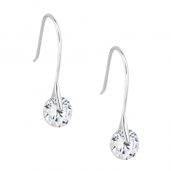 Sterling Silver Cubic Zirconia Tension Drop Earring