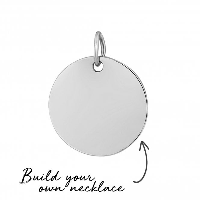 Sterling Silver Disc Pendant - Build Your Own Necklace