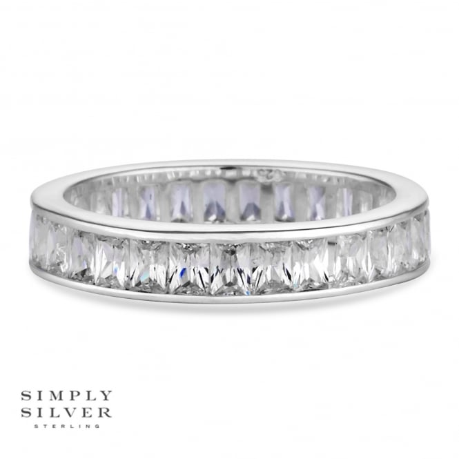 Simply Silver Sterling silver eternity ring