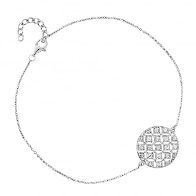 Sterling Silver Filigree Disc Bracelet