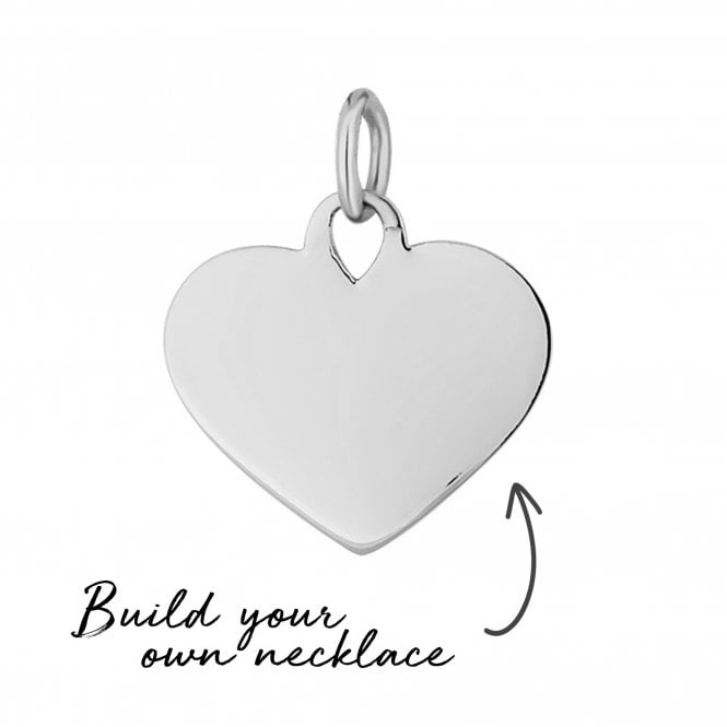 Sterling Silver Heart Pendant - Build Your Own Necklace