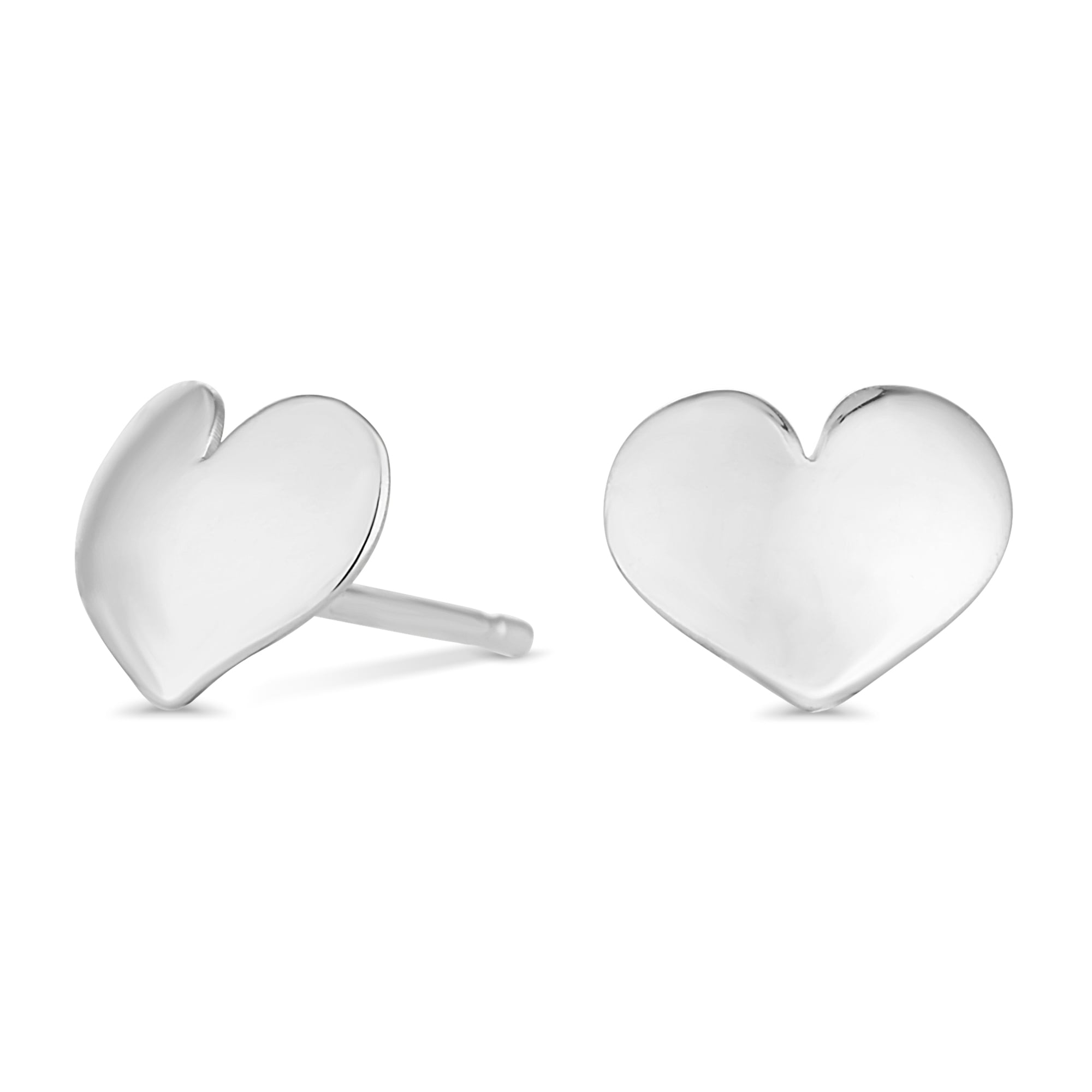 stud sterling uk silver flat earrings heart jewellerybox product har co