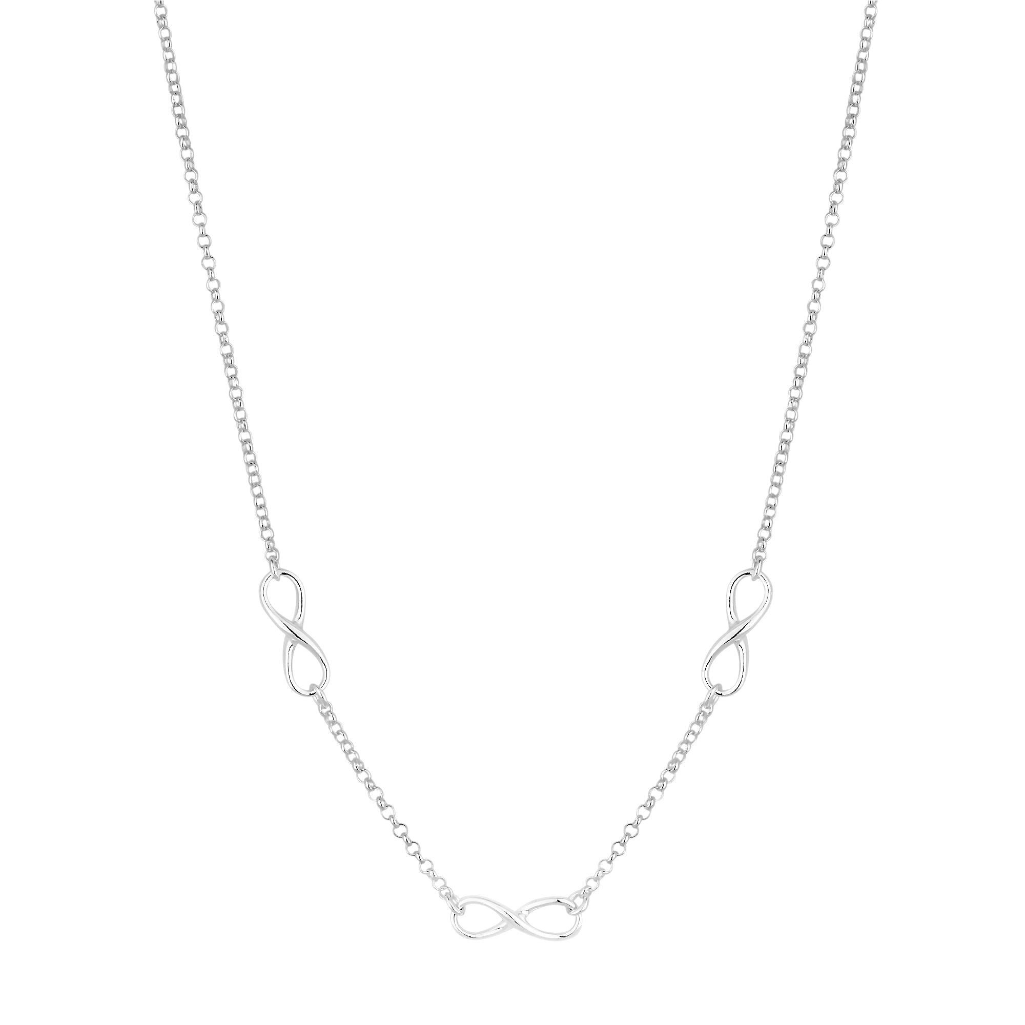 silver long sterling necklace news new infinity rhodium plated in