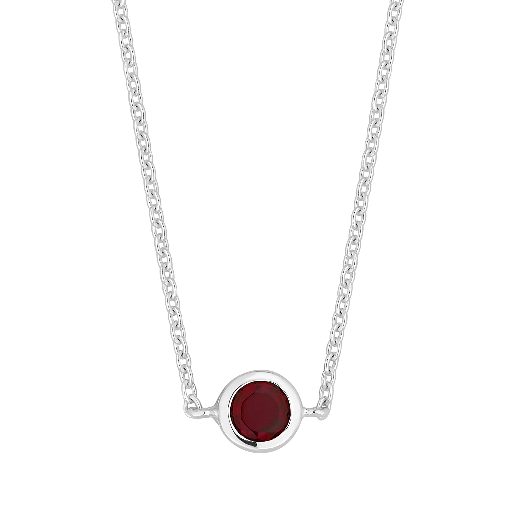 pave gold drop single white necklace bale red heart set garnet in