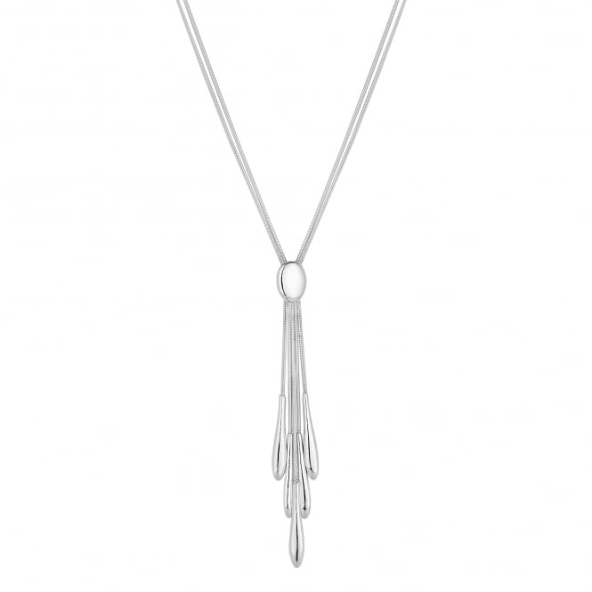 Sterling Silver Layered Spear Drop Necklace