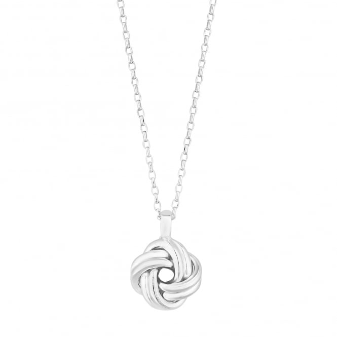 Simply Silver Sterling Silver Open Knot Pendant Necklace