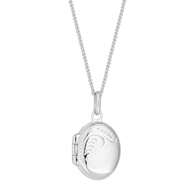 Simply Silver Sterling Silver Oval Locket Necklace