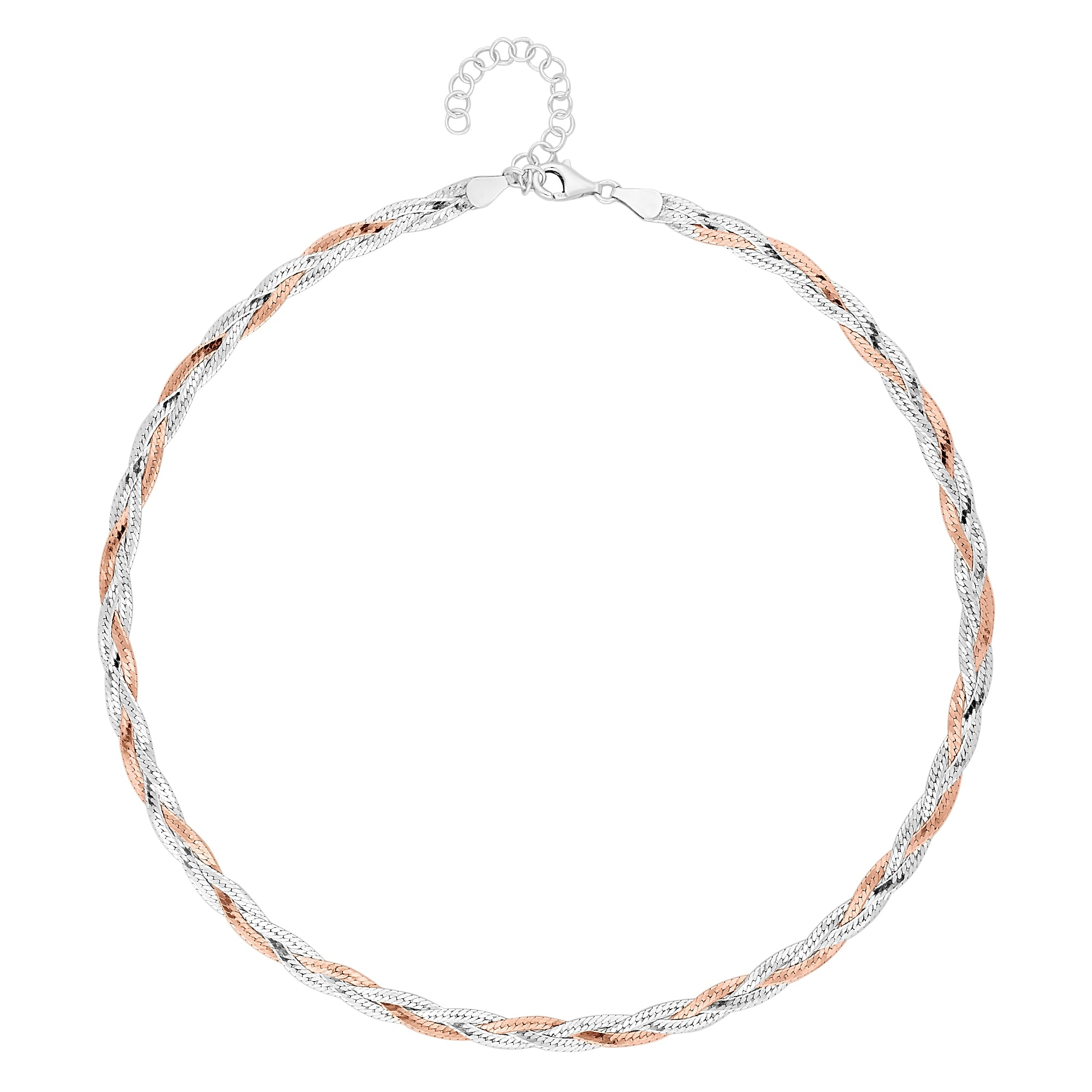 Harron Bone Necklace: Simply Silver 14ct Rose Gold Plated Sterling Silver