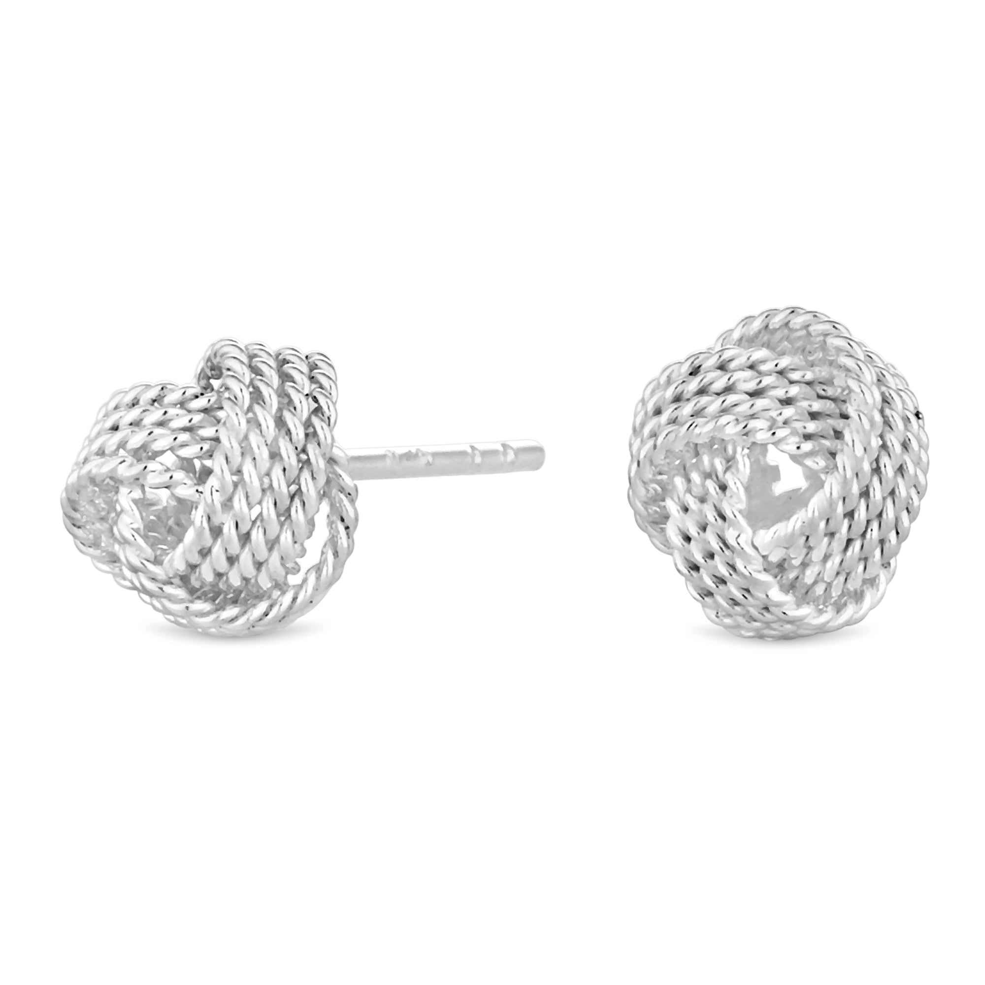 Simply Silver Sterling Rope Knot Stud Earring