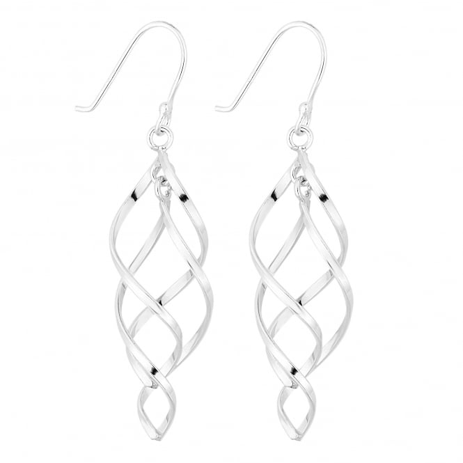 Simply Silver Sterling Silver Spiral Drop Earring