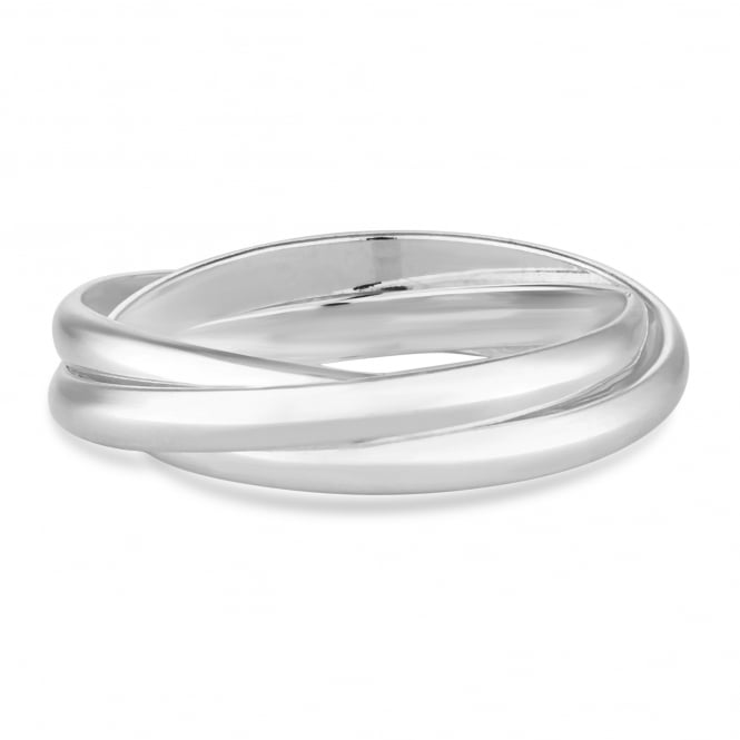 Simply Silver Sterling silver triple link ring