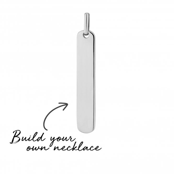 Sterling Silver Vertical Bar Pendant - Build Your Own Necklace