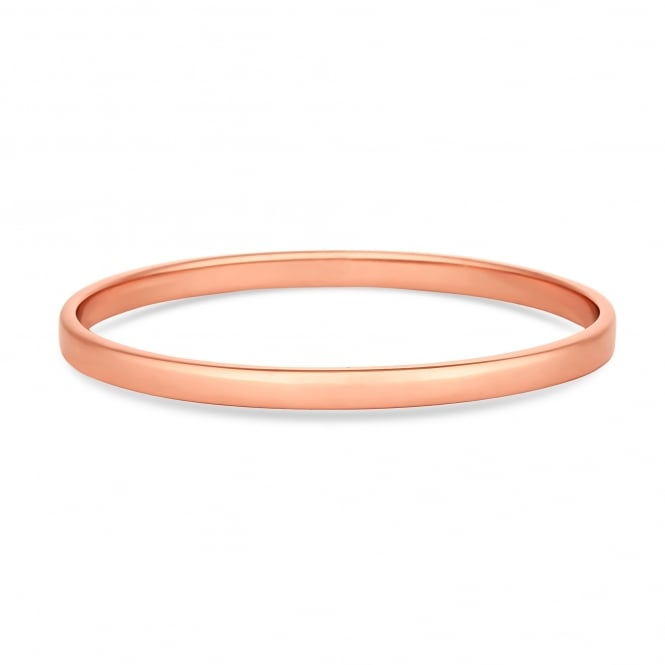 14ct Rose Gold Plated Sterling Silver Bangle