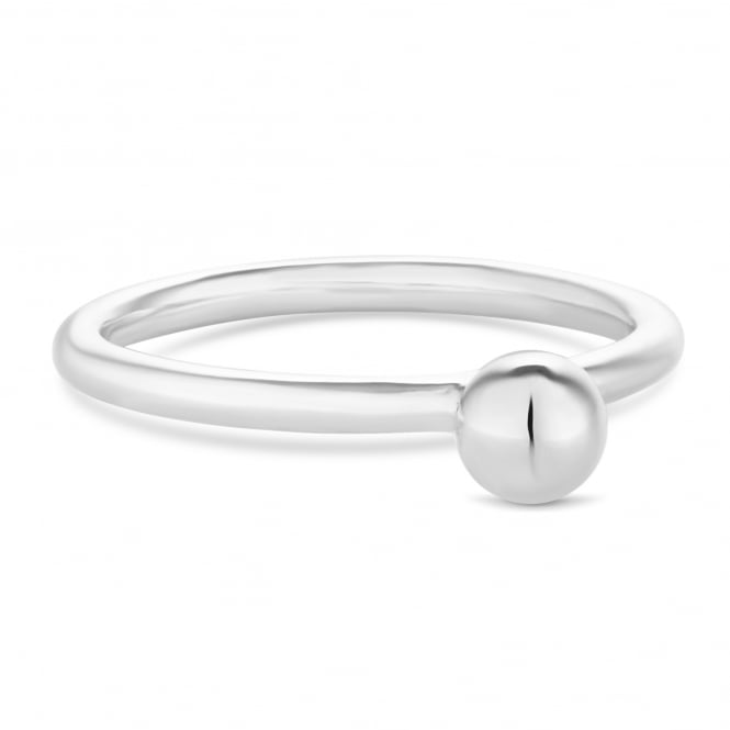 Simply Silver Sterling Silver Ball Bead Ring
