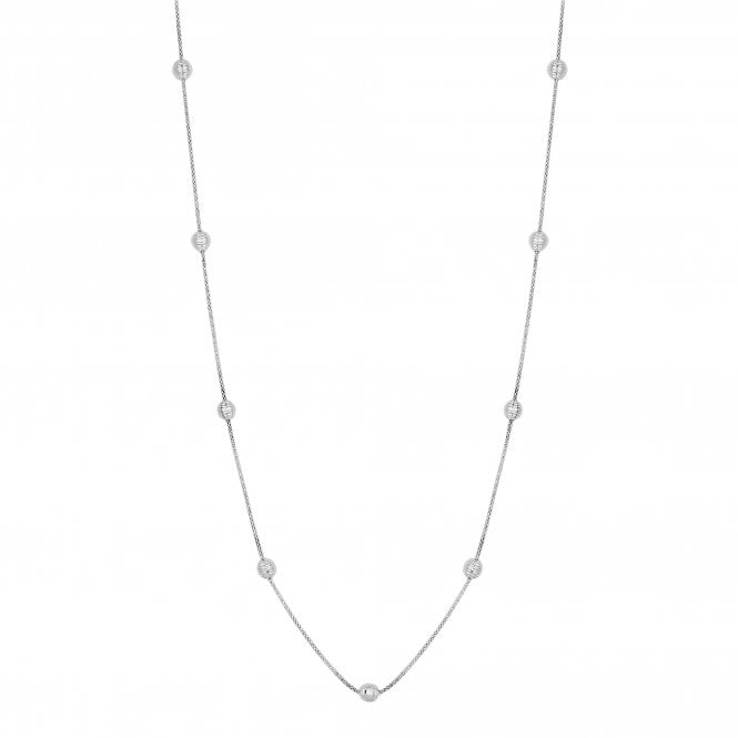 Sterling Silver Beaded Long Necklace