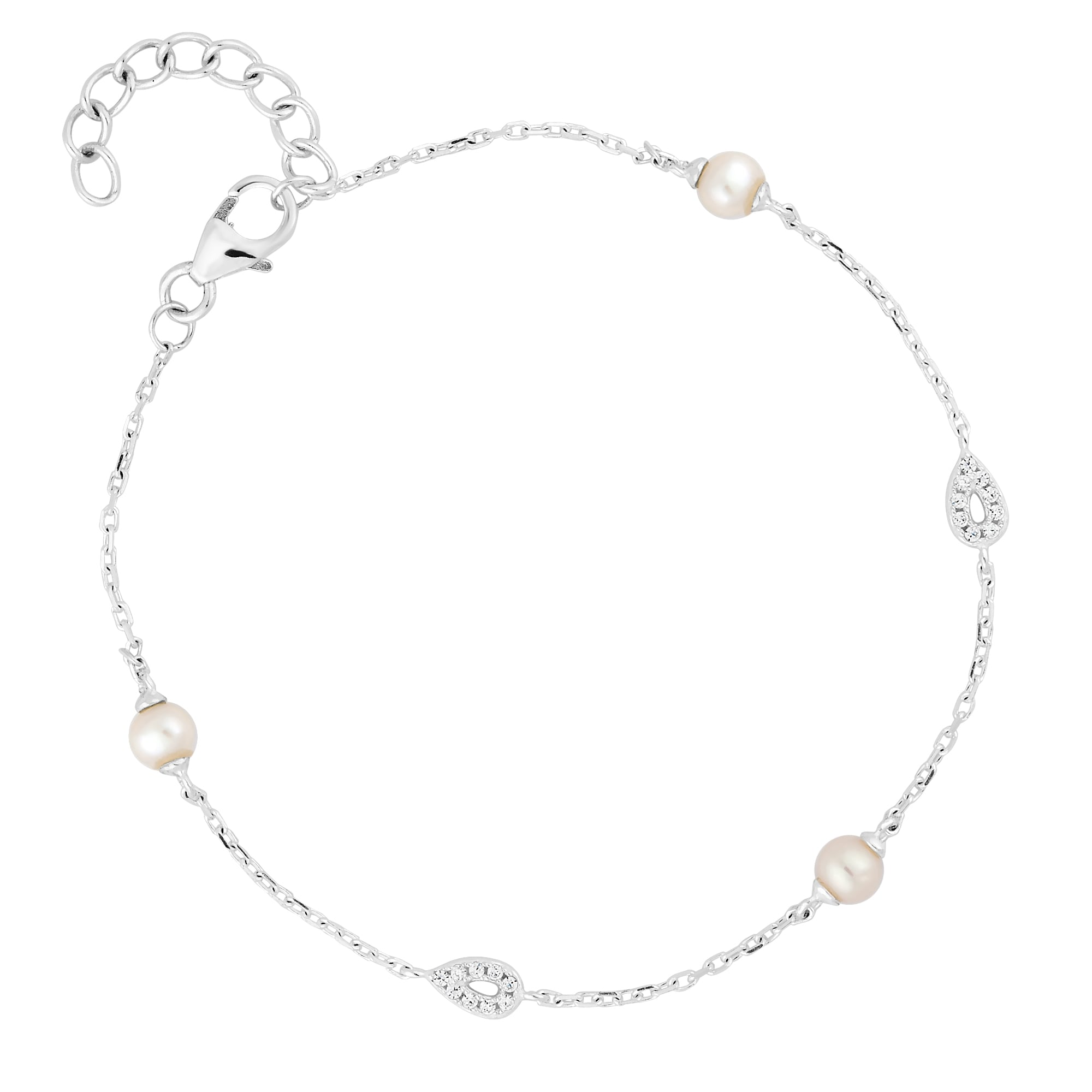 steel bracelet com jewelry anklet amazon tow with stainless dangling dp zirconia row cubic