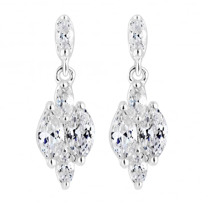 Simply Silver Sterling Silver Cubic Zirconia Drop Earring