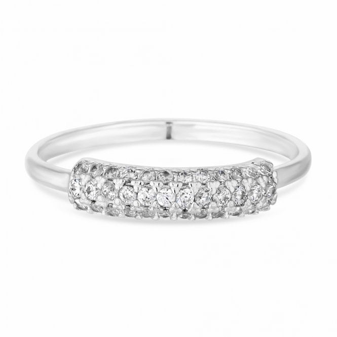 Sterling Silver Cubic Zirconia Encrusted Band Ring