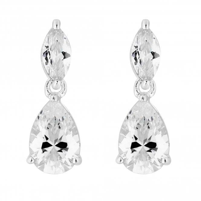 Sterling Silver Cubic Zirconia Peardrop Drop Earring