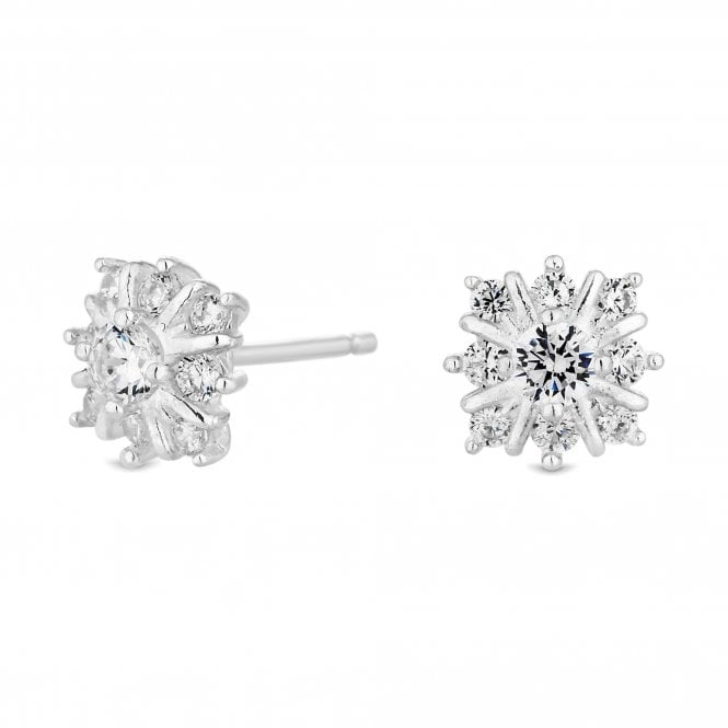 Sterling Silver Cubic Zirconia Solitaire Stud Earring