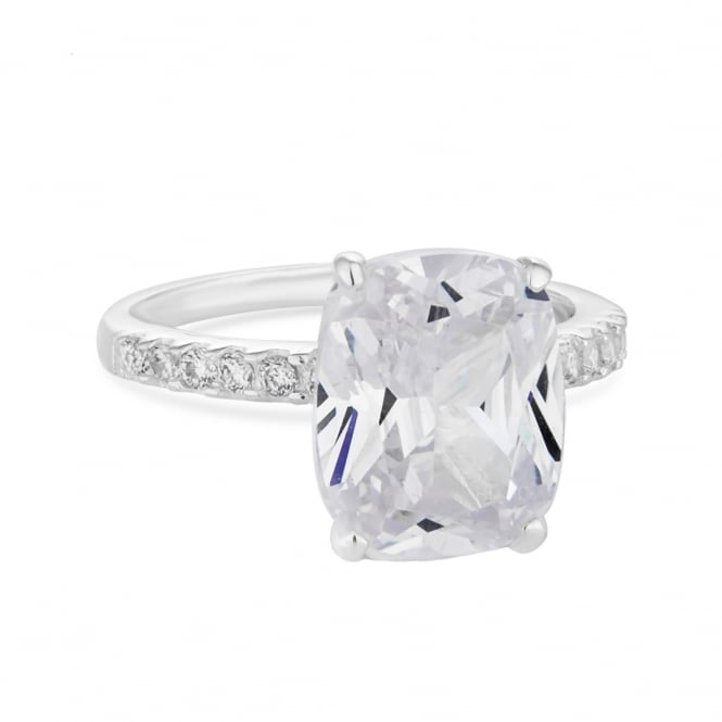 Simply Silver Sterling Silver Cubic Zirconia Statement Ring