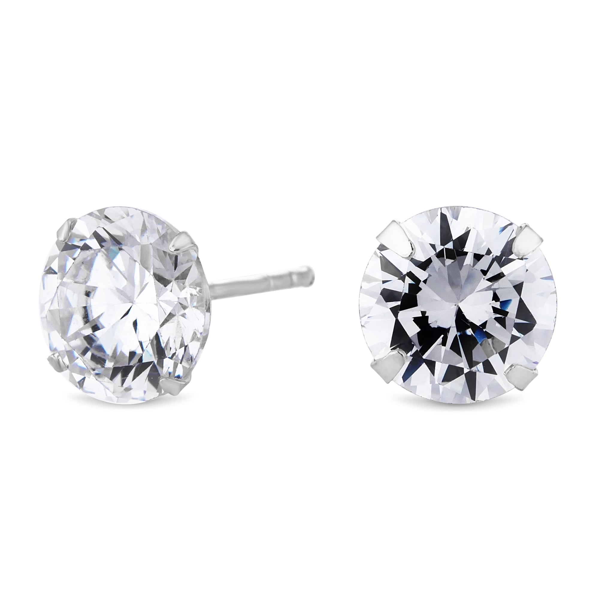 simply jewellery earrings set zirconia stud cubic earring silver sterling zoom