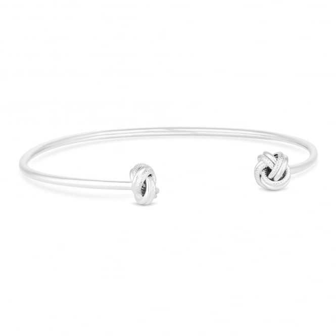 Simply Silver Sterling silver double knot bangle