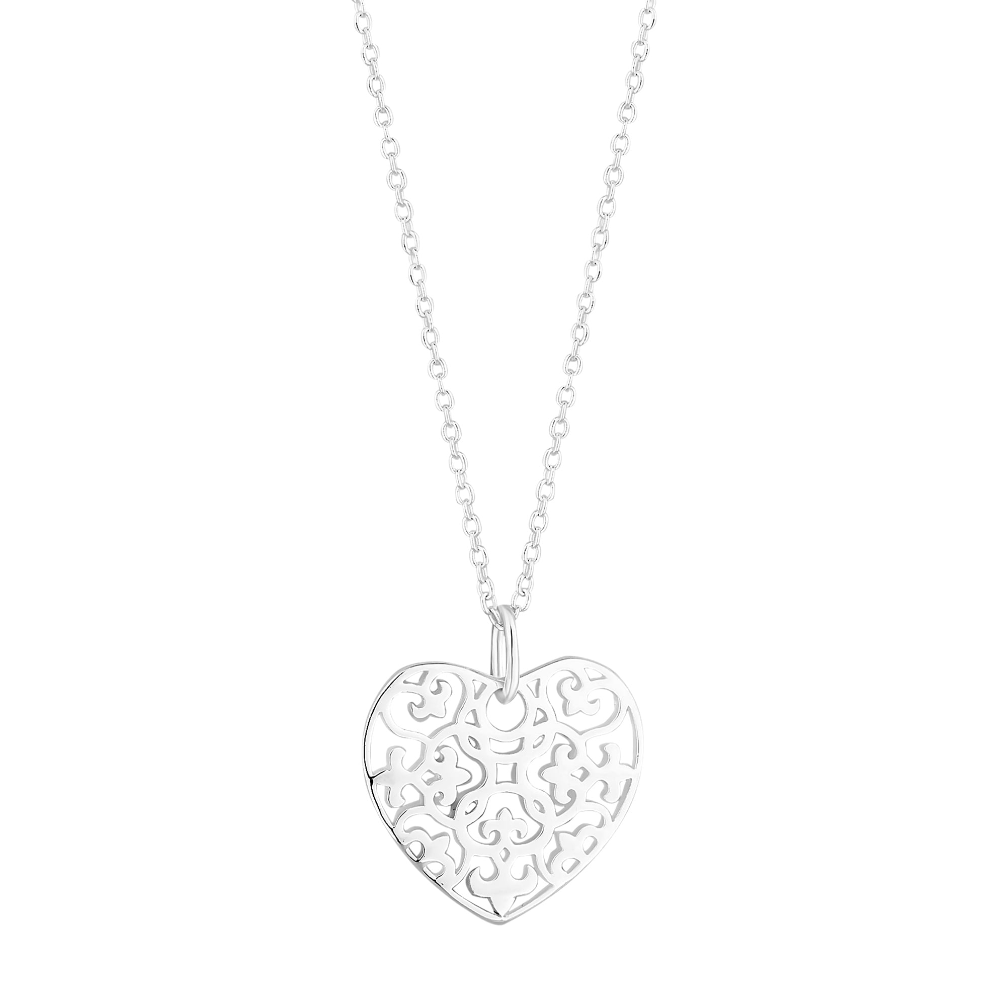 Simply silver sterling silver filigree heart pendant necklace sale sterling silver filigree heart pendant necklace aloadofball Gallery