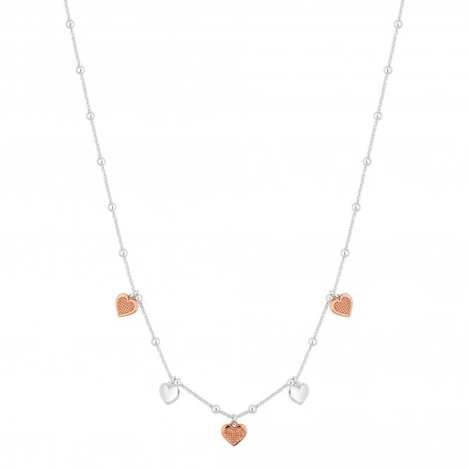 Sterling Silver Heart Charm Necklace