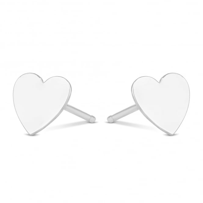 Simply Silver Sterling Silver Heart Stud Earring