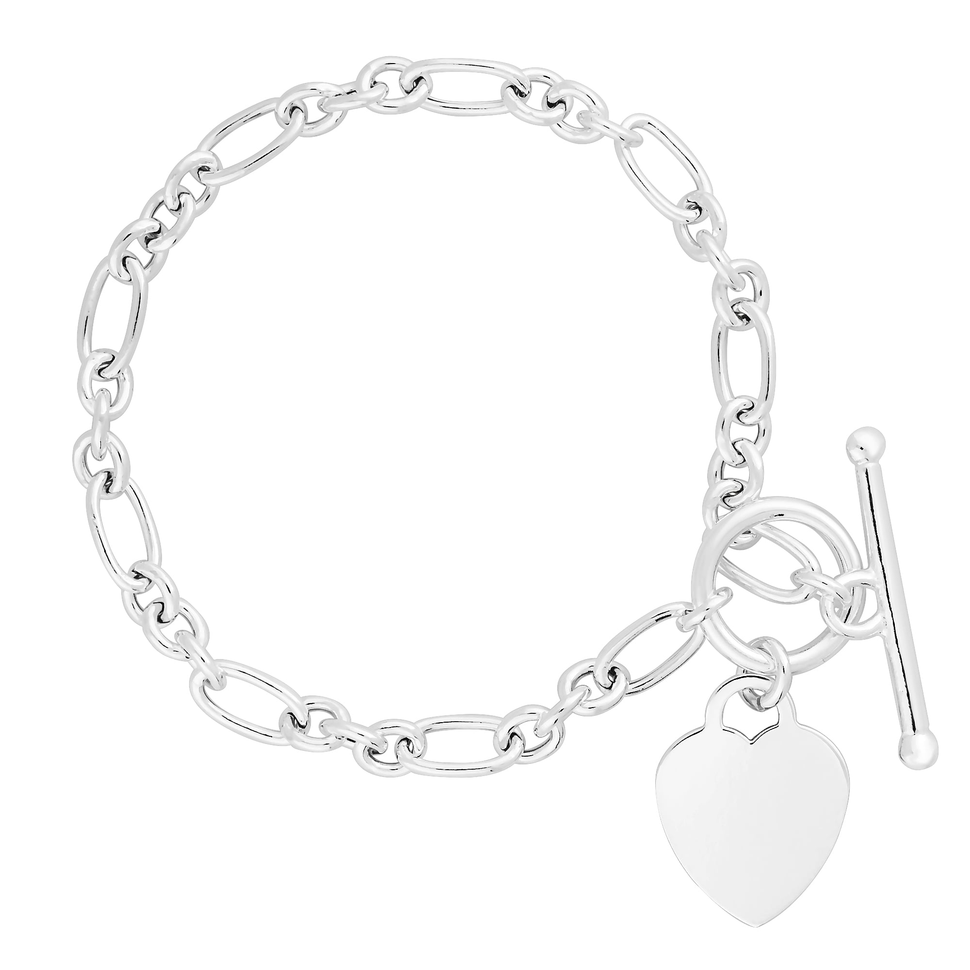 anklet dangling watches overstock free shipping jewelry silver product sterling heart hearts charm bracelet today