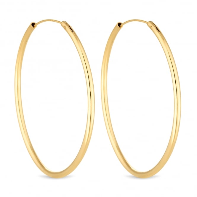 14ct Gold Plated Sterling Silver Hoop Earring