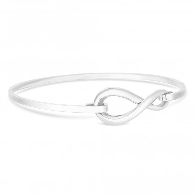Sterling Silver Infinity Clasp Bangle